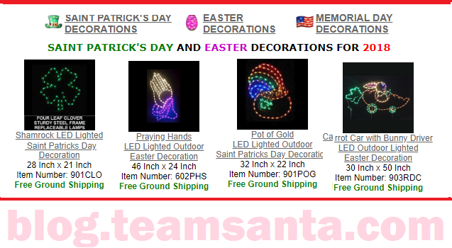 Say Goodbye to Winter and Hello to Easter and Saint Patrick's Day Decorations