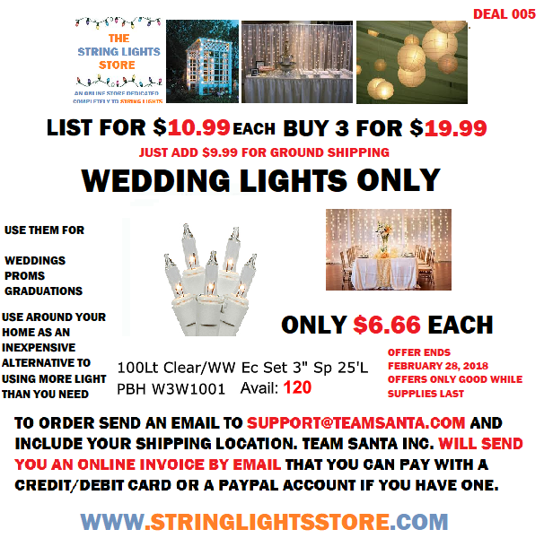Deal Number 005 A Wedding Lights Deal That is so Good it's Something Everyone Can Agree On